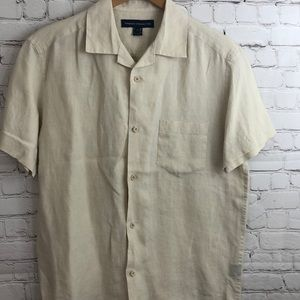 French Connection 100% Linen Button Down Shirt